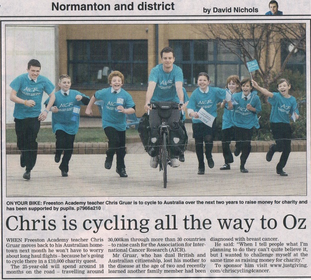 cycling4cancer article