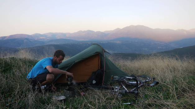 My campspot on the Parnassos Mountains
