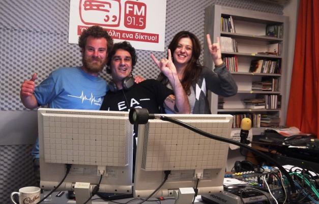 Inside the studio of Diktyo FM