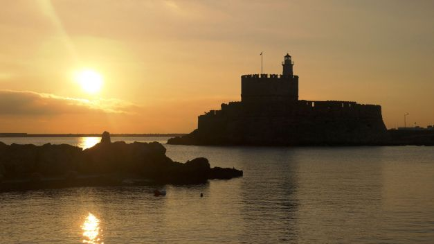 My last morning in Greece: sunrise in Rhodes