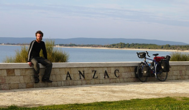 A moment of reflection at ANZAC Cove