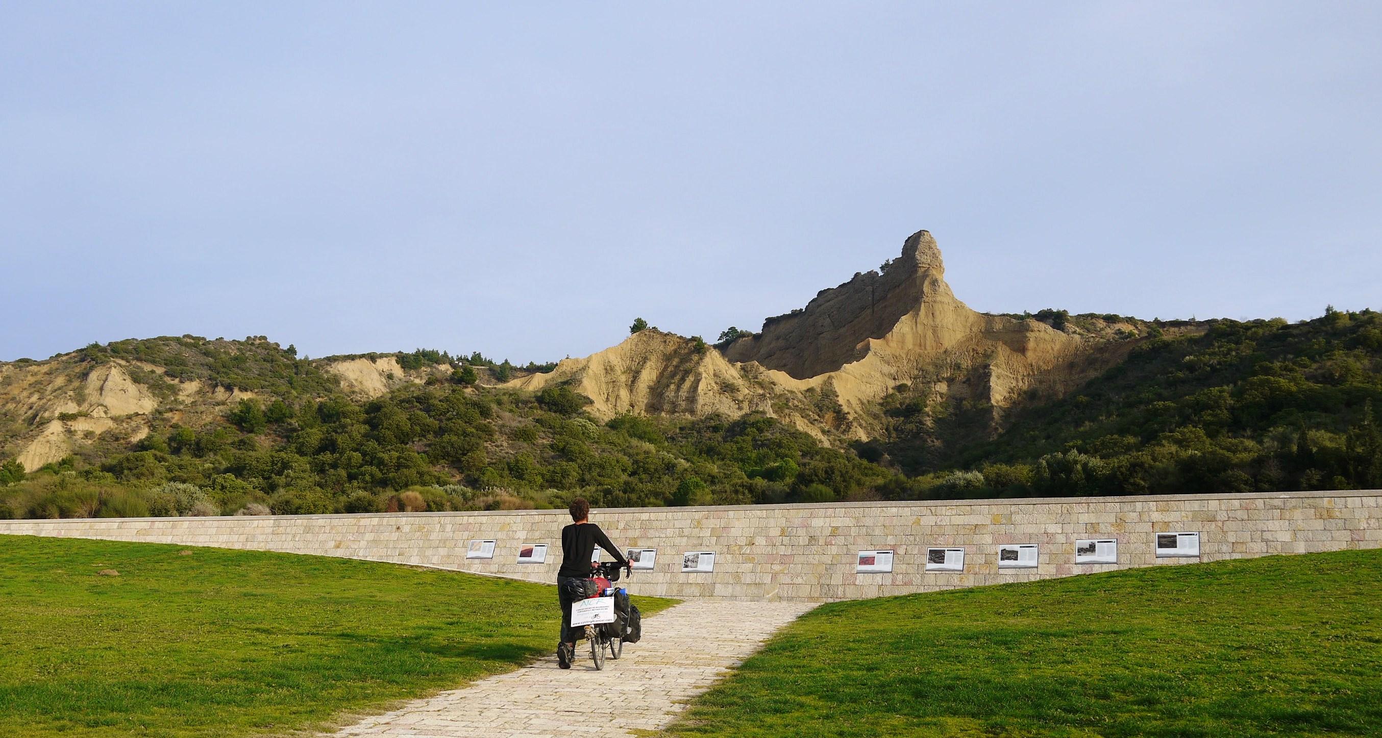 gallipoli cycling cancer walking upwards from anzac cove