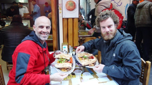 Fellow cyclist Zigor is also making his way east, and we both took advantage of Istanbul's cuisine!
