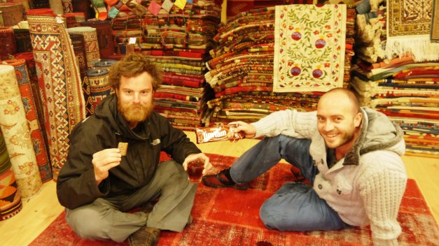An old friend, cay, Turkish carpets and Tim Tams... living the dream!