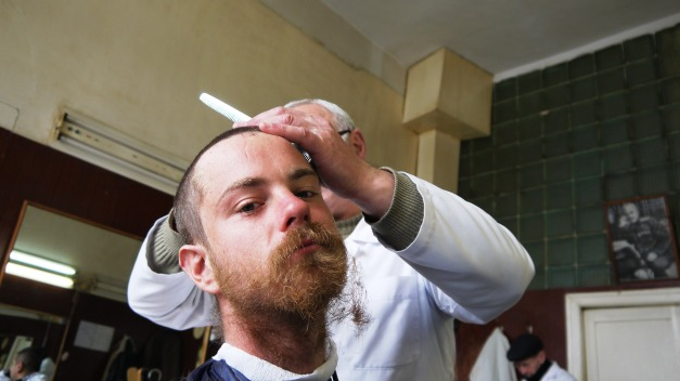 A close shave in Vanadzor, Armenia