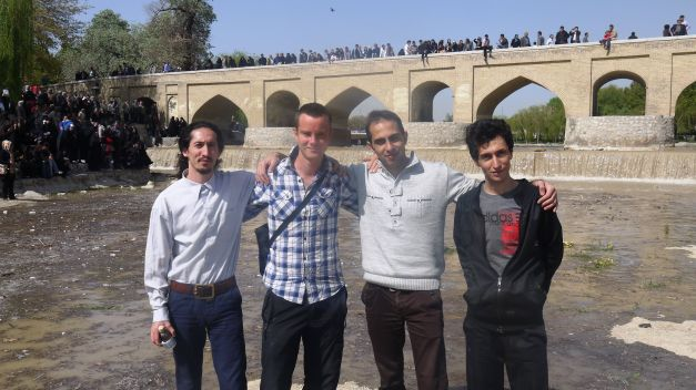 On Esfahan's riverbed with my CS hosts