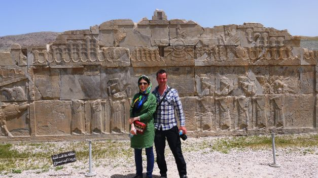 In Persepolis with my 'tour guide'
