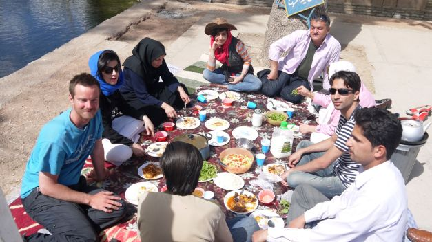 Picnicing with friends in Shahrud