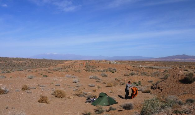 Camping in one of the many deserts of Iran