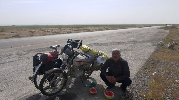 Fresh watermelons with Mohammid just east of Mashhad