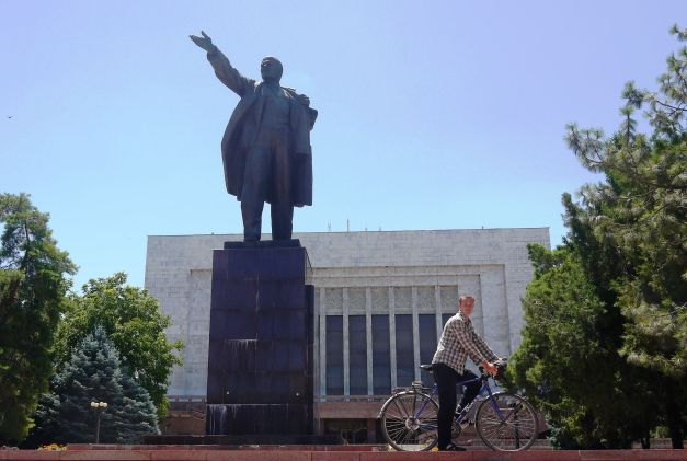 Hangin' out with Lenin in Bishkek