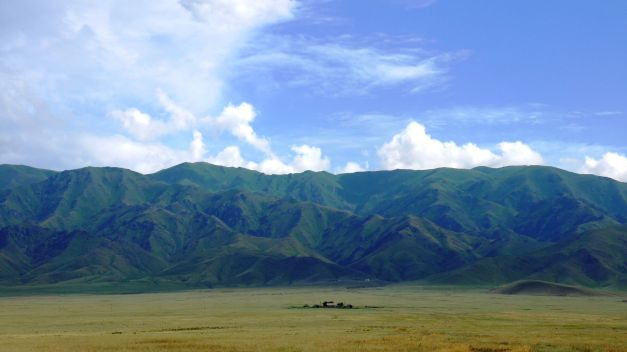The mountains between Bishkek and Almaty