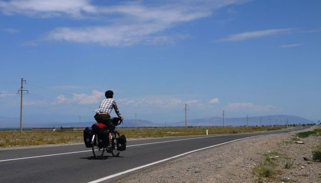 Rising along the empty expanse of 'The Silk Road'