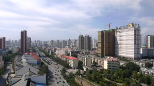 The skyline of Xining