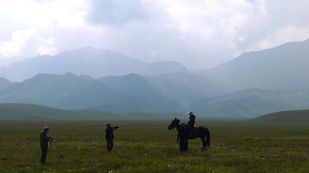 When I spotted horses instead of yaks the landscape reminded me of Kyrgyzstan