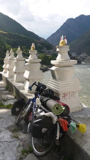 Wilson acquires some Tibetan prayer flags