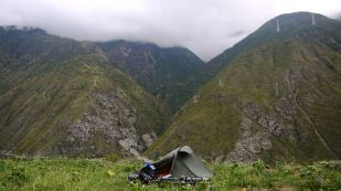 One of the more scenic campsites in Sichuan