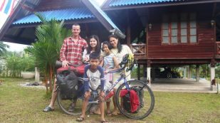 My host and her family in the hills above Ranong
