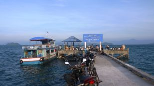 Koh Phayam Pier, where I would once again spend hours fishing