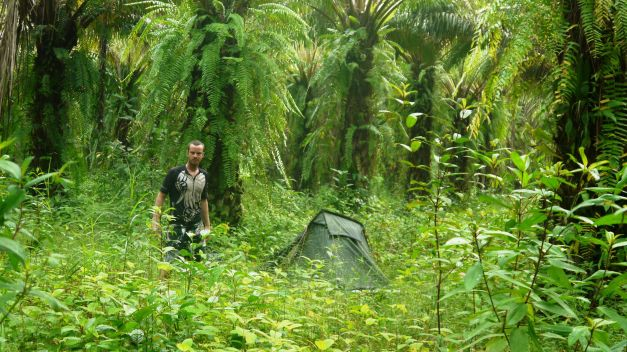 Wild camping in southern Thailand