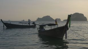 Longtail boats in Railay