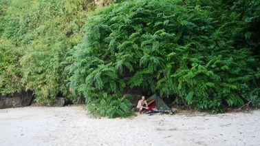 Sleeping on the beach on Railay
