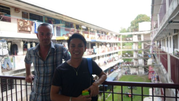 With Javon outside his bustling communal apartment