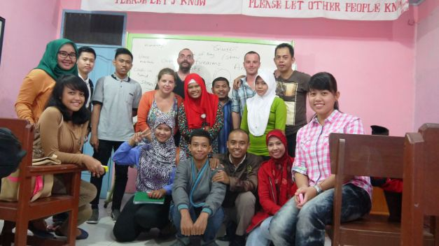 I stayed a few days in a school in Dumai, and it was sad to have to leave after making so many friends