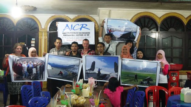 Promotion pictures and a banner all prepared in Dumai - for a fraction of the price of that of home!