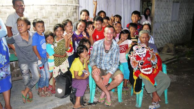 At a local village the children were keen for a photo after some Javanese dancing