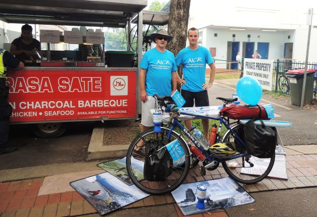 Our AICR stand at Nightcliff Markets. WE collected and impressive $444.50