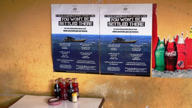 Yep put up a poster - that will stop the boats!