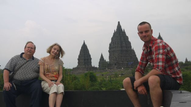 With John and Katie at Prambanan