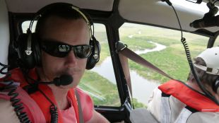 Up in helicopter above Darwin