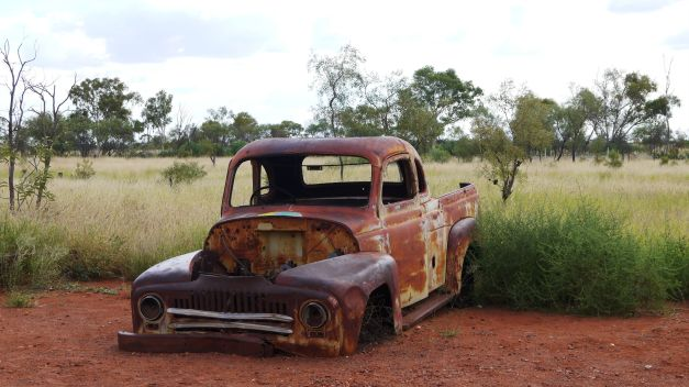 A car rust away peacefully in the NT