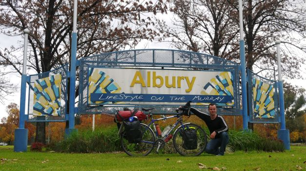 Arrival in Albury