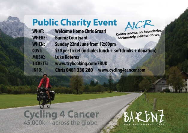 Barenz charity event cycling4cancer