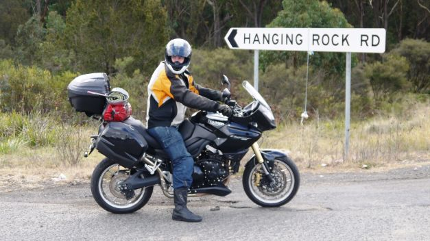 Ian waits for me to catchup during one of the highway ascents